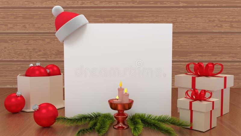 贺卡圣诞快乐和新年快乐 礼物,圣诞节,球,文本的