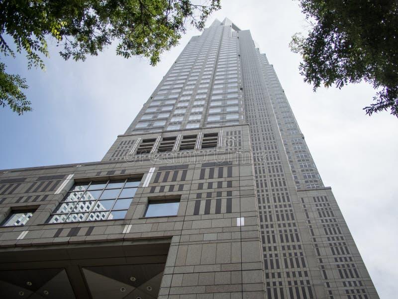  metropolitano do åº do ½ do ±äº¬éƒ do  do æ da construção do governo, Shinjuku, Japão foto de stock