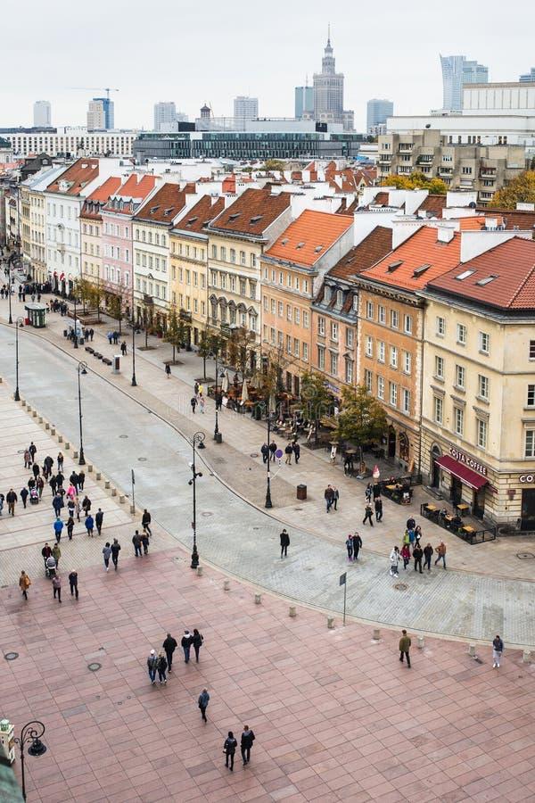  Polens Warschau Ñ ity Bereich mit Leuten lizenzfreie stockfotografie