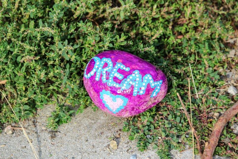 " d'""Dream†de sentiment de peinture de roche images libres de droits"
