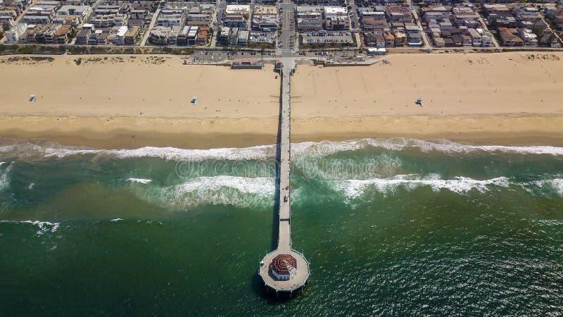 """ famoso di Pier†del """"The di Manhattan Beach California fotografia stock"""