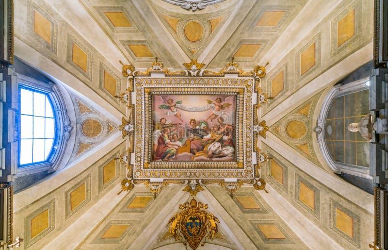  ` IL Passignanoâ€, Fresko durch Domenico Crespi in der Basilika von Santa Maria Maggiore in Rom, Italien lizenzfreies stockbild