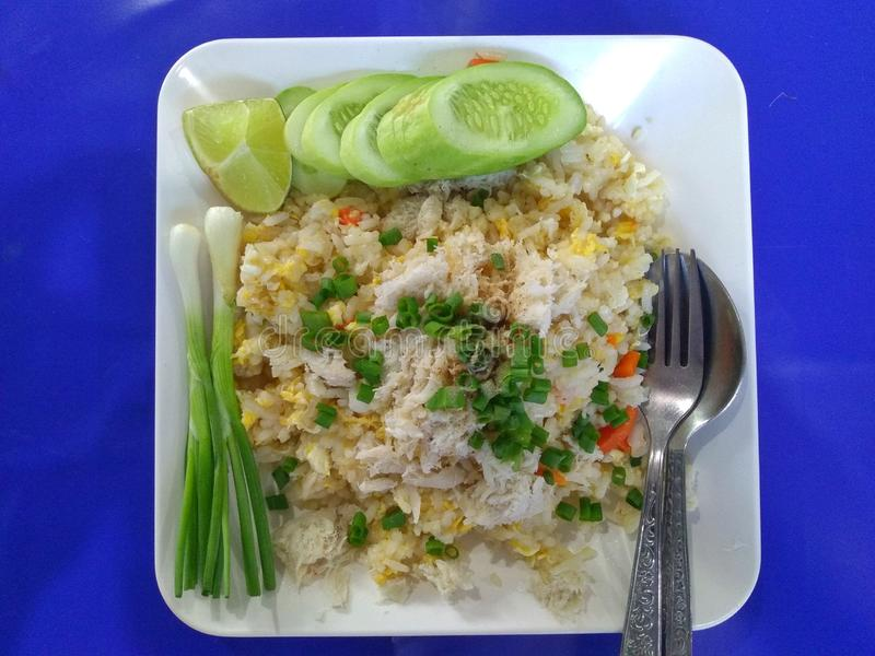 Crab Meat Fried Rice , food, diet stock image