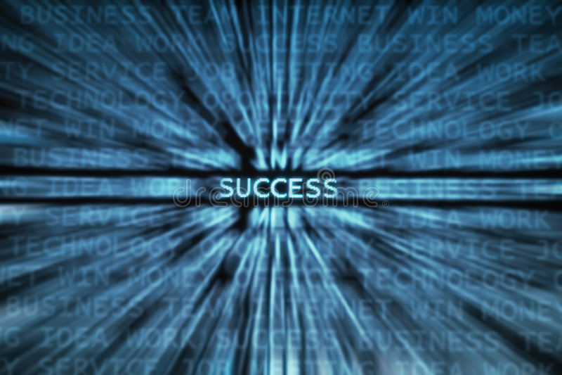 ¡Éxito! ilustración del vector