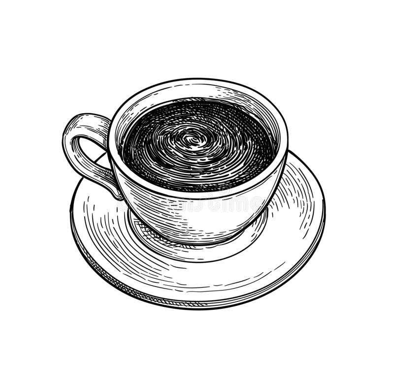 ¡ De Ð acima do chocolate quente ou do café ilustração do vetor
