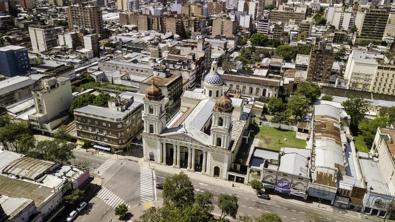 ¡ N/Argentina do ¡ n/Tucumà de San Miguel de Tucumà - 01 01 19: Catedral de nossa senhora da encarnação, ¡ n de San Miguel de Tuc imagem de stock