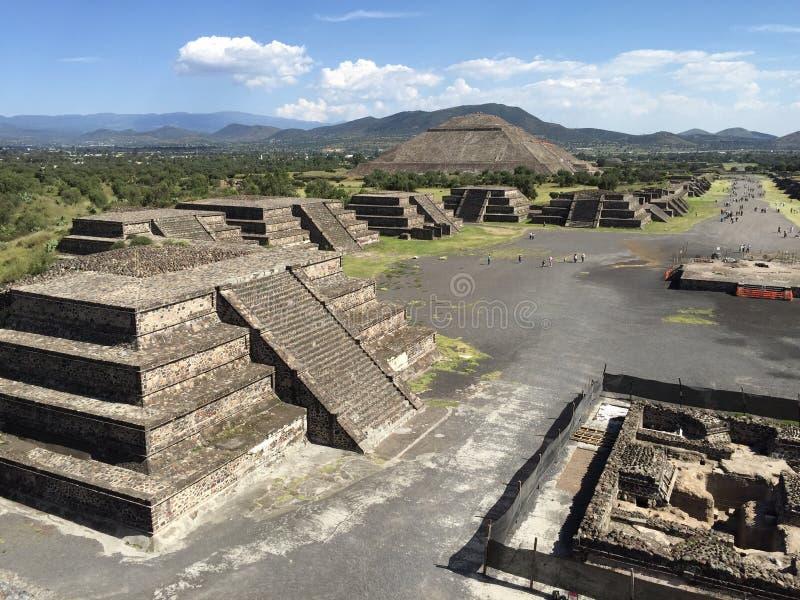 ¡ N de Teotihuacà dos mides do ¡ de Pirà fotos de stock