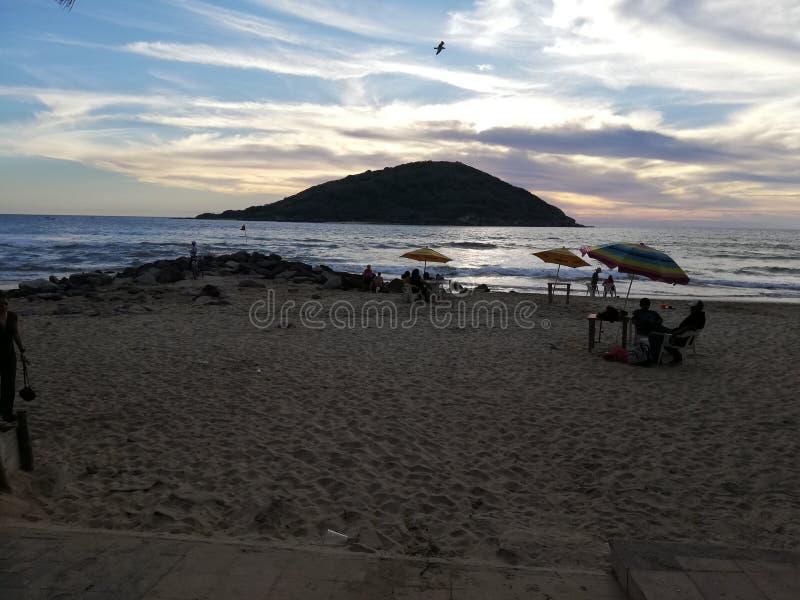 ¡ N di Mazatlà della spiaggia immagine stock