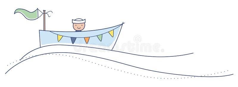 ¡Ahoy es un muchacho! stock de ilustración