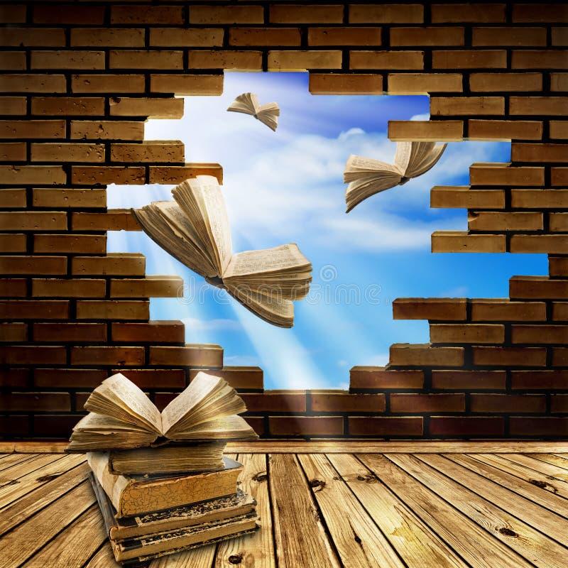 ¡Con conocimiento a la libertad! stock de ilustración