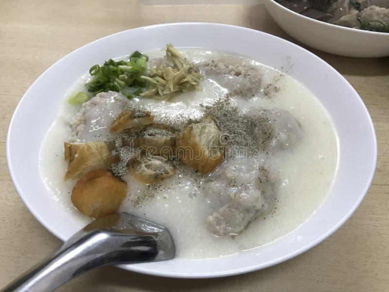 ¡Congee delicioso!! imagen de archivo