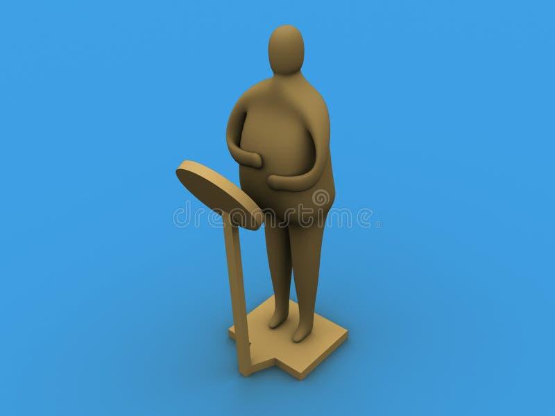 ¡Conseguí gordo! stock de ilustración