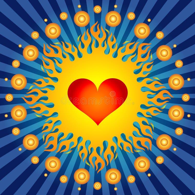¡Corazón ardiente! stock de ilustración
