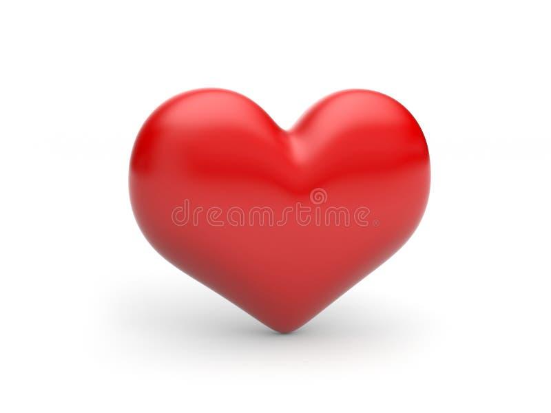 ¡Corazón rojo! símbolo clásico del amor ilustración del vector