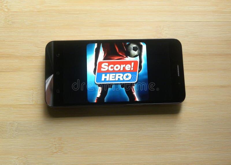 ¡Cuenta! App del héroe foto de archivo libre de regalías