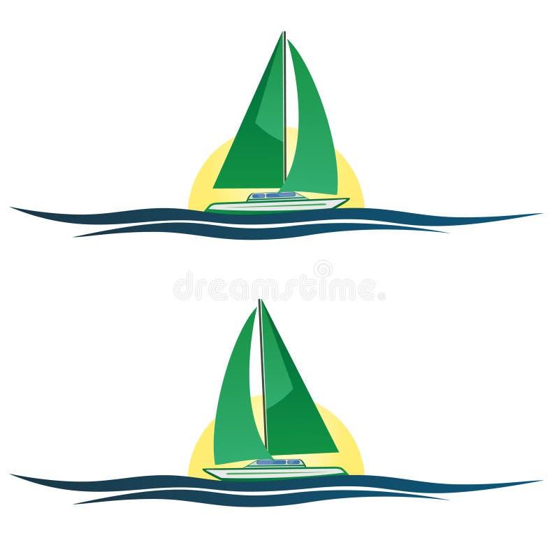 ¡De la imprecisión en la imprecisión en mi velero, la vida es hermosa! stock de ilustración