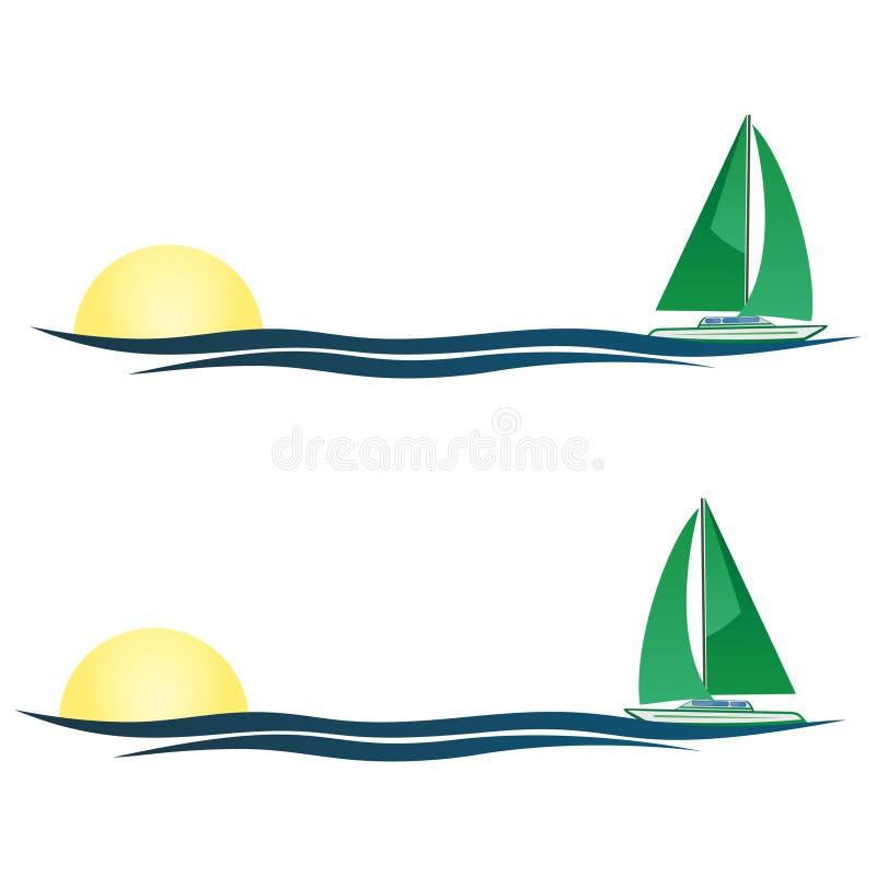 ¡De la imprecisión en la imprecisión en mi velero, la vida es hermosa! ilustración del vector