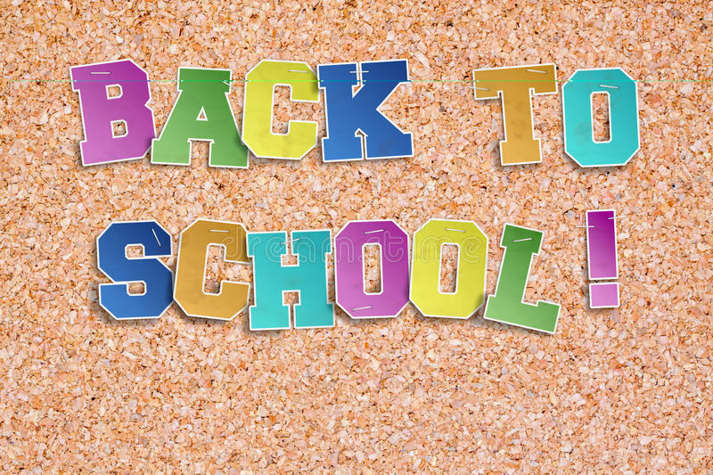 ¡De nuevo a escuela! foto de archivo libre de regalías