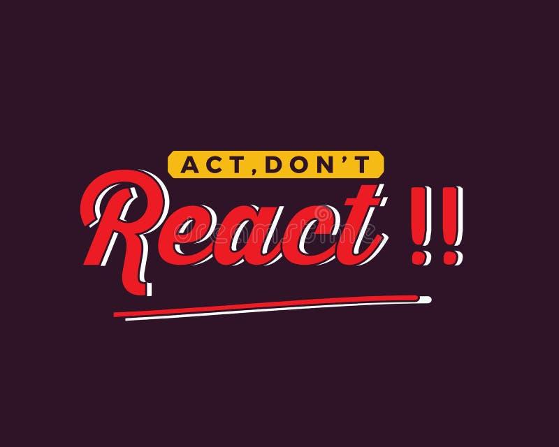 ¡El acto, no reacciona!! libre illustration
