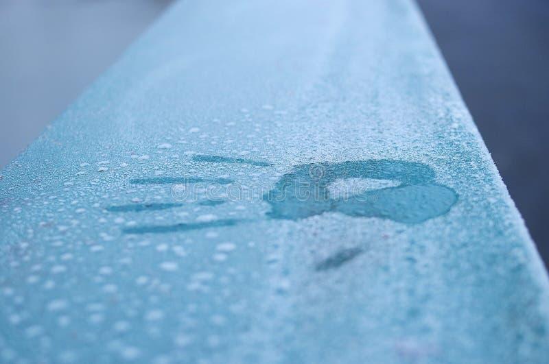 ¡El invierno, da cinco! fotografía de archivo
