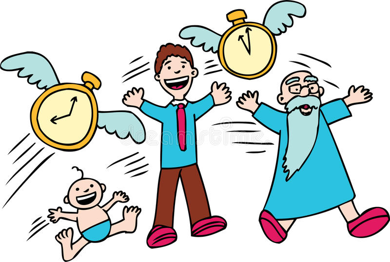 ¡El tiempo vuela! libre illustration