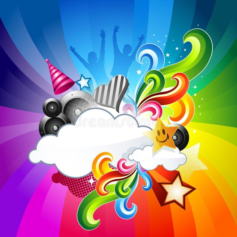 ¡Elementos de la celebración del partido! ilustración del vector