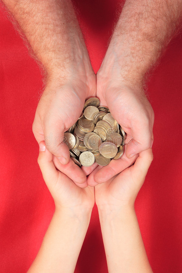 Download ¡Excepto su dinero! foto de archivo. Imagen de mano, familia - 1296276