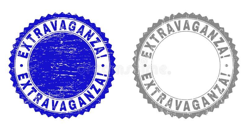 ¡EXTRAVAGANCIA del Grunge! Filigranas texturizadas libre illustration