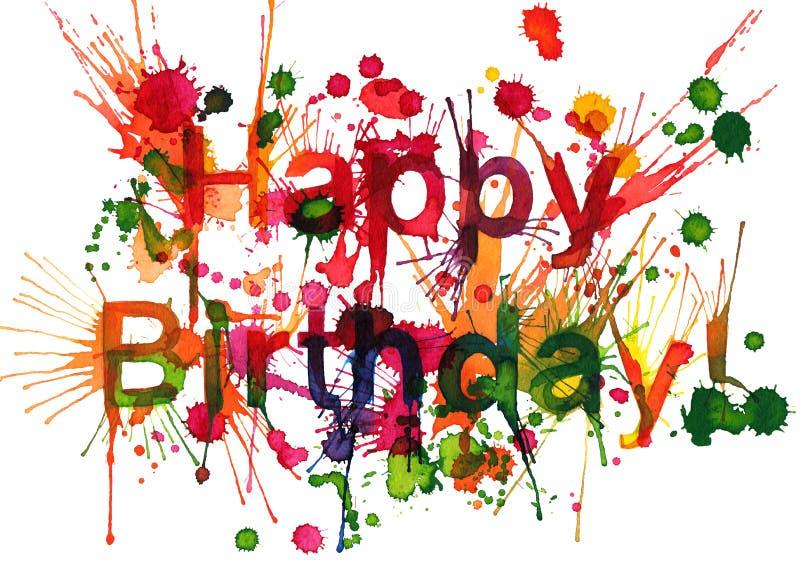 ¡Feliz cumpleaños! ilustración del vector
