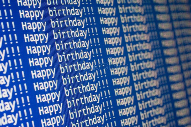 ¡Feliz cumpleaños! fotografía de archivo