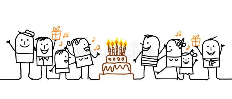 ¡Feliz cumpleaños! stock de ilustración