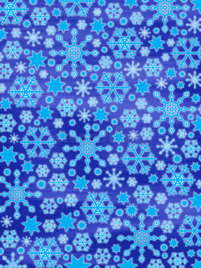 ¡Feliz Navidad!! :-) copos de nieve que brillan intensamente stock de ilustración