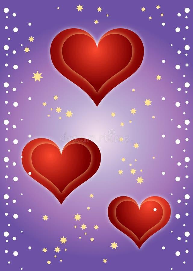 ¡Fondo de los corazones! stock de ilustración