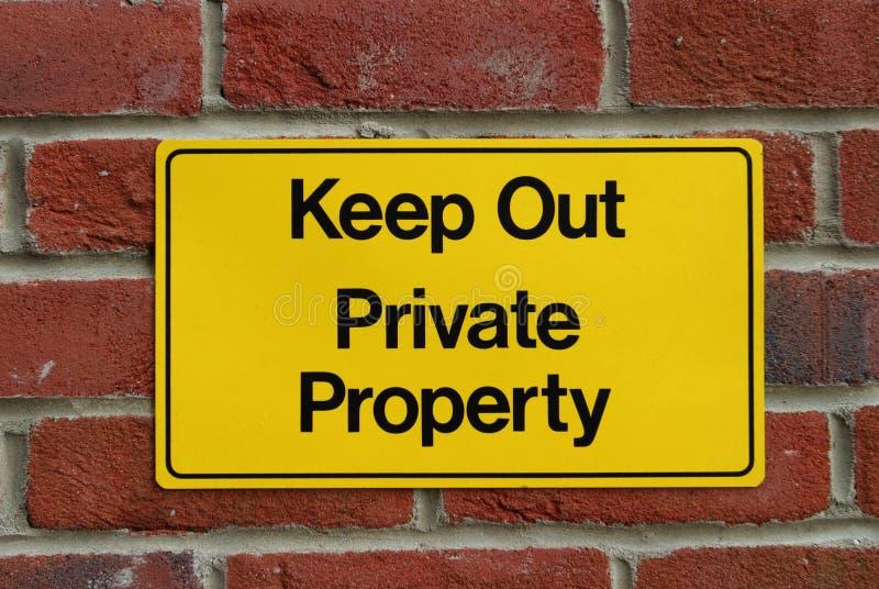 ¡Guarde Hacia Fuera! Fotografía de archivo libre de regalías
