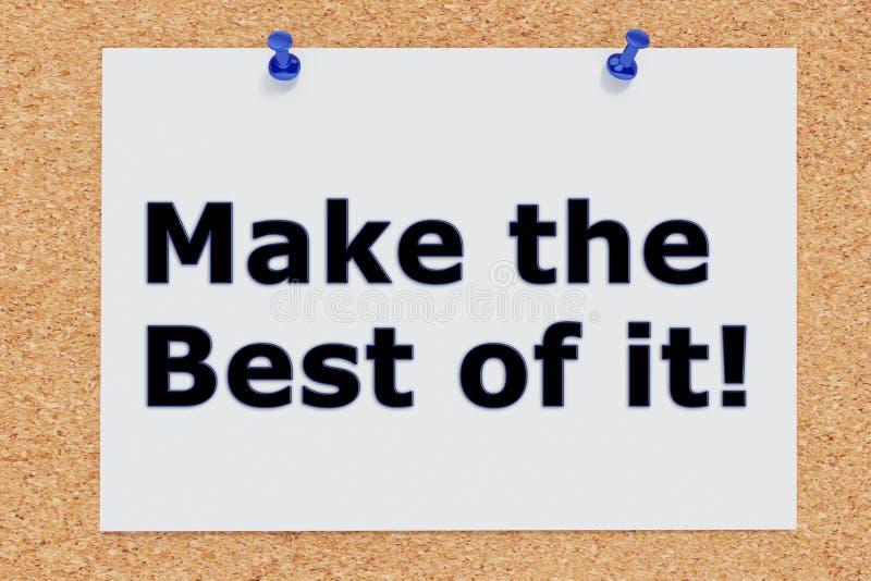 ¡Haga el mejor de él! concepto ilustración del vector