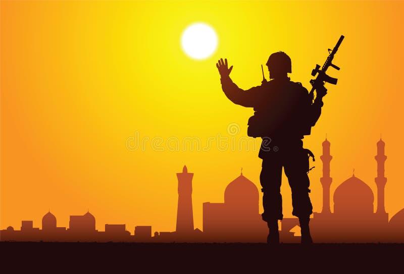 ¡Hola, Bagdad! ilustración del vector