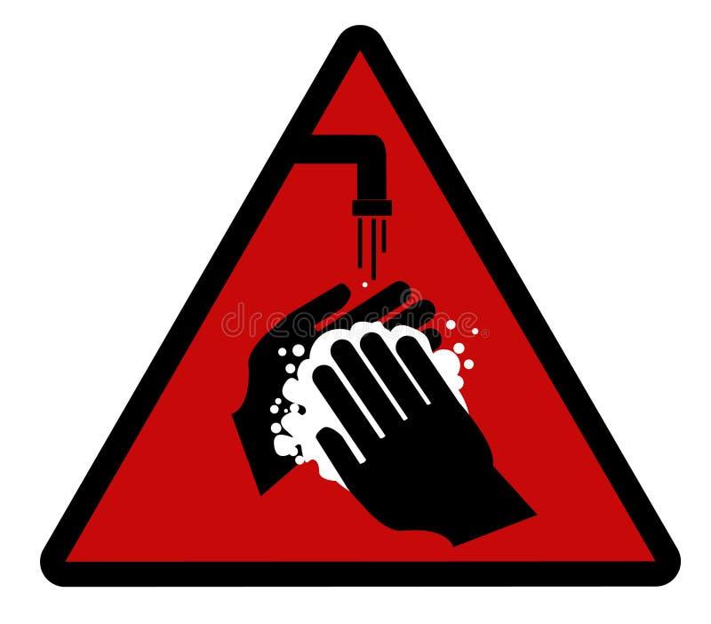 ¡Lávese las manos! stock de ilustración