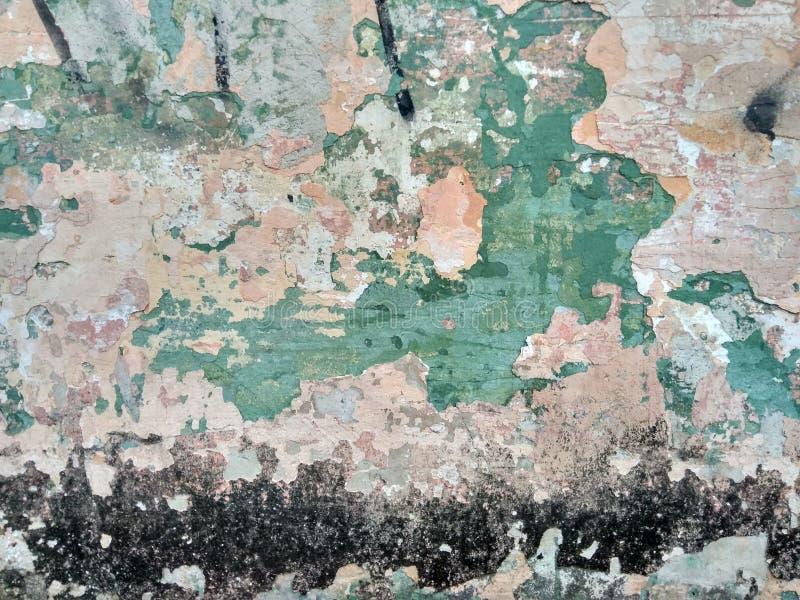 ¡La pared de una casa en la vieja parte de la ciudad! imagenes de archivo
