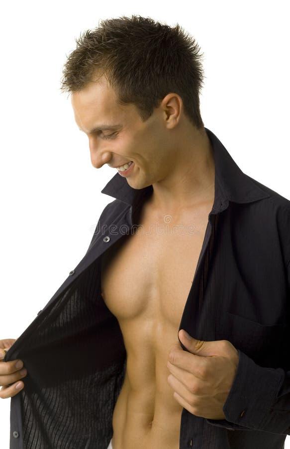 ¡Mire mi abdomen! imagen de archivo libre de regalías