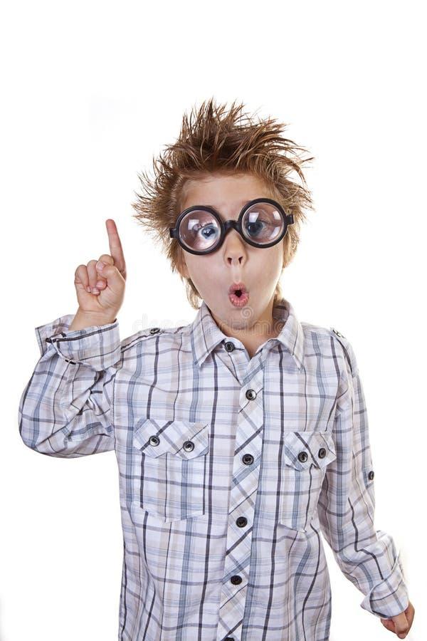 ¡Niño elegante con una idea! imágenes de archivo libres de regalías