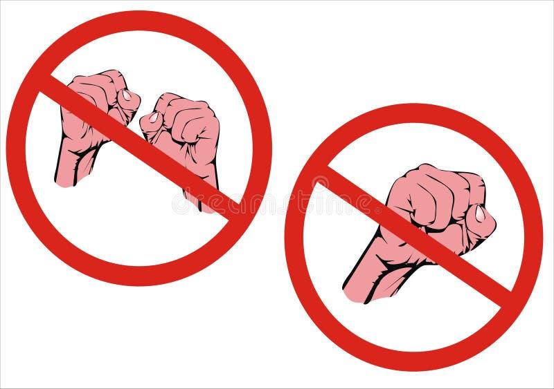 ¡Ninguna lucha! ¡Ninguna agresión! libre illustration