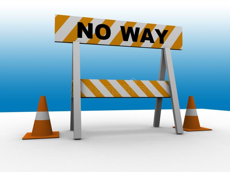 ¡Ninguna manera! imagen de archivo libre de regalías