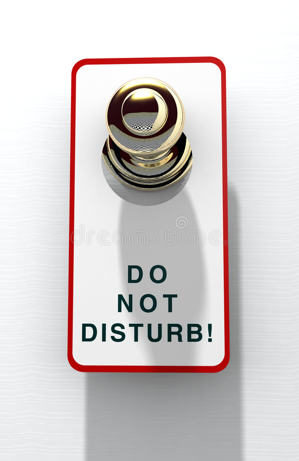 ¡No disturbe! ilustración del vector