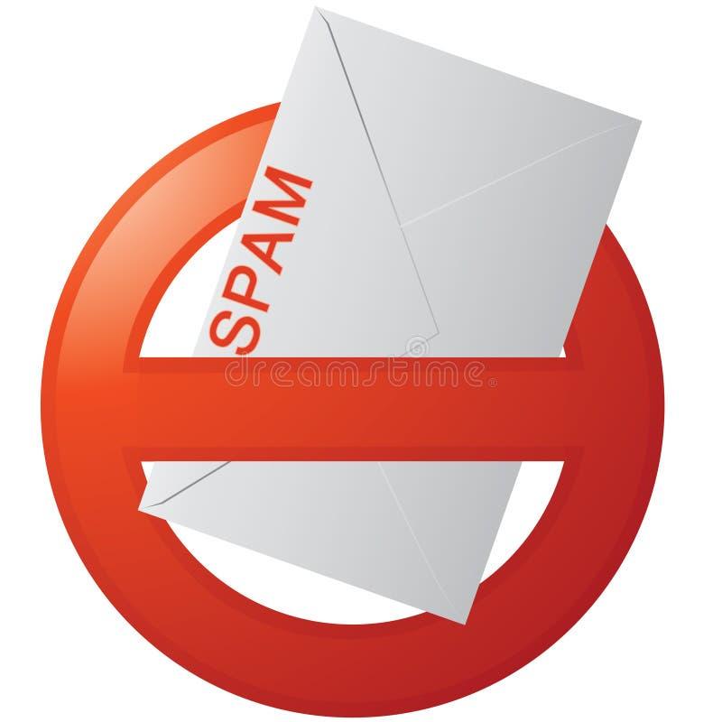 ¡No más de Spam! stock de ilustración