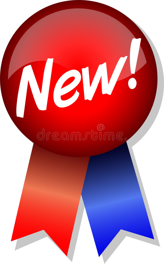 ¡Nuevo! Botón y cinta/EPS stock de ilustración