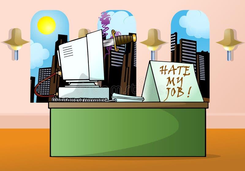 ¡Odio mi trabajo! stock de ilustración