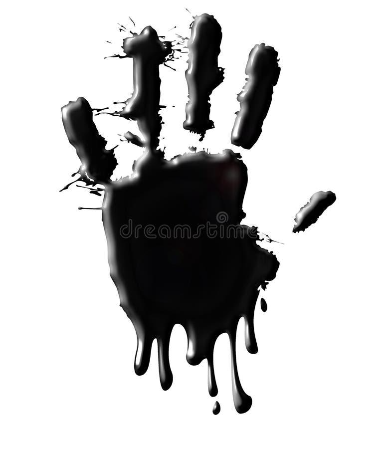 ¡Pare el petróleo! ilustración del vector