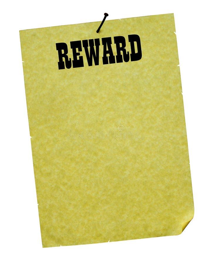 ¡Recompensa! imagen de archivo libre de regalías