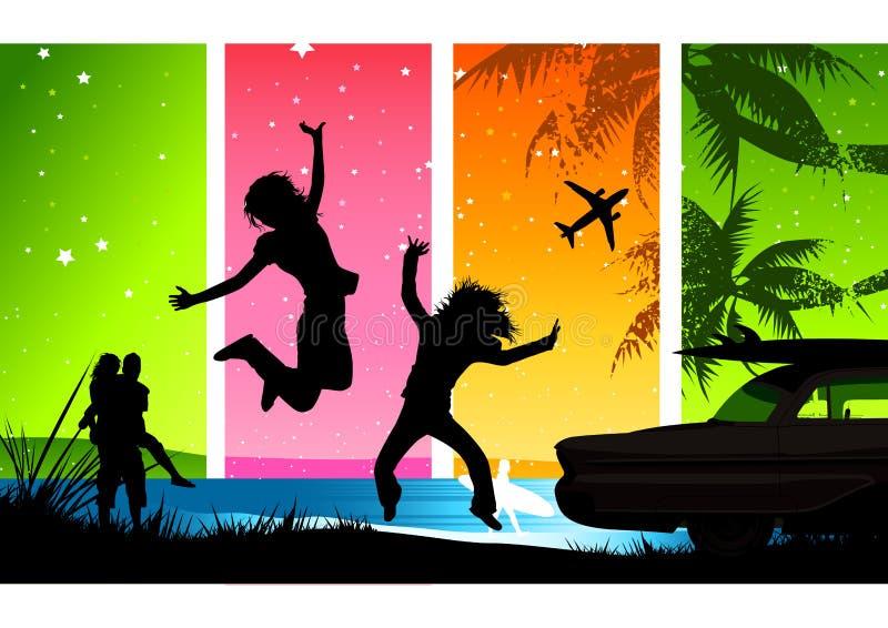 ¡Rotura de verano feliz! libre illustration