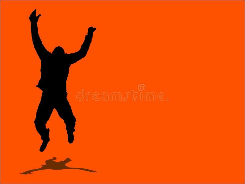¡Salte para la alegría! ilustración del vector